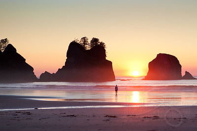 Sunset at Point of Arches, Shi Shi Beach, Olympic National Park, WA.