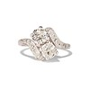 1.99ctw Vintage Old Mine Cut Bypass Ring 0