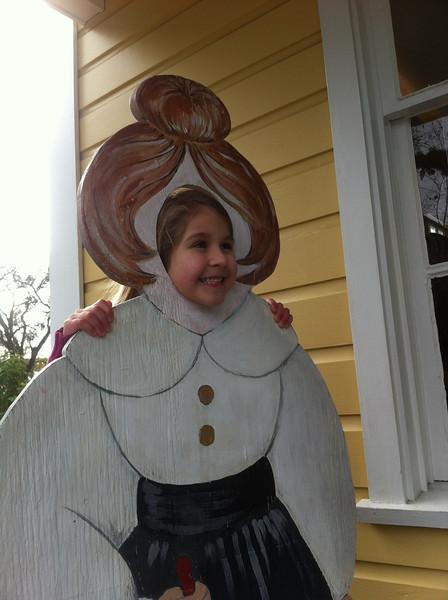 Tiffy as the schoolmarm
