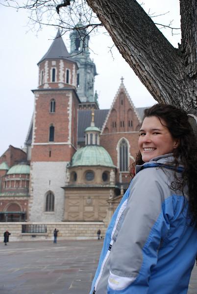 Anna at Wawel Castle 1.JPG