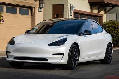 Tesla Model 3 - Pearl White Multi-Coat - Oreo Style 2
