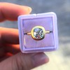 2.05ct Antique Cushion Cut Diamond Chunky Bezel with pave setting GIA J SI2 10
