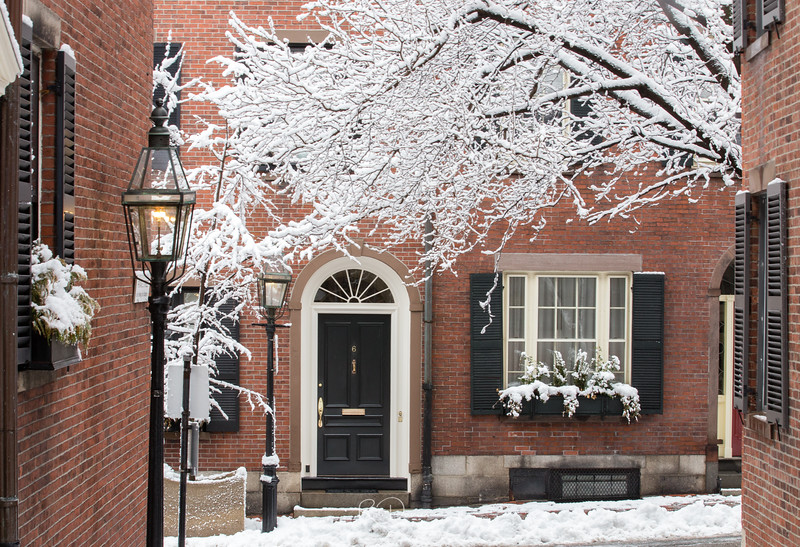 Acorn Street after the Snowstorm