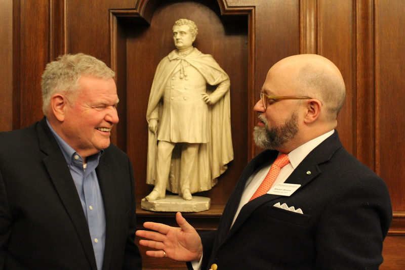 Barry Shrage, President of CJP, and Brenton Simons, President and CEO of New England Historic Genealogical Society.