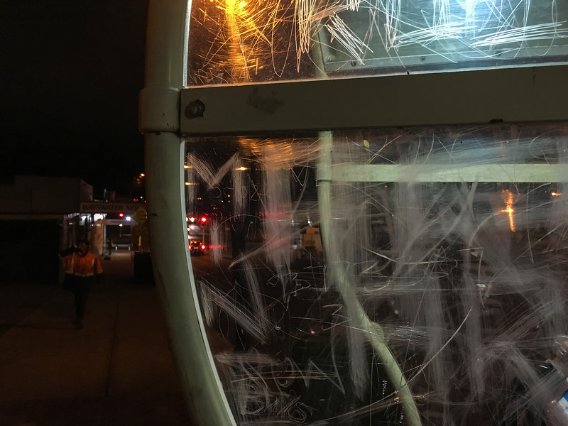 Scratched Telephone Booth
