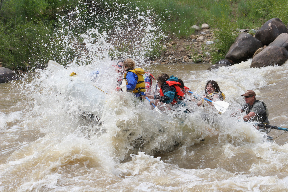 . The Animas River, here the Lower Animas, is an exciting, scenic experience that you can extend into a multi-day adventure.  (Provided by Colorado River Outfitters Association)