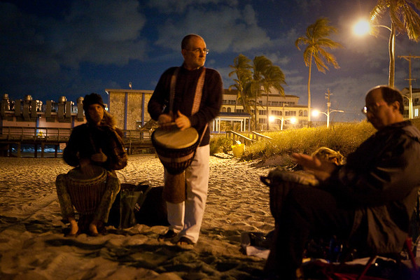 Full Moon Drum Circle - Lake Worth Pier 2009