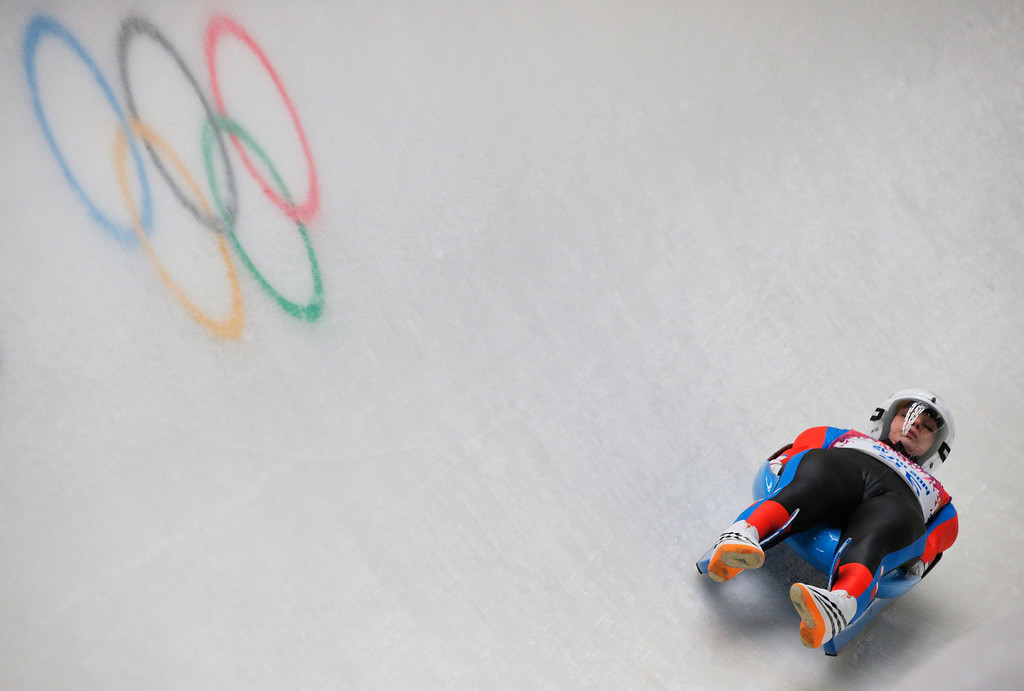 . Vendula Kotenova of Czech Republic makes a run during the Women\'s Luge Singles on Day 3 of the Sochi 2014 Winter Olympics at Sliding Center Sanki on February 10, 2014 in Sochi, Russia.  (Photo by Adam Pretty/Getty Images)