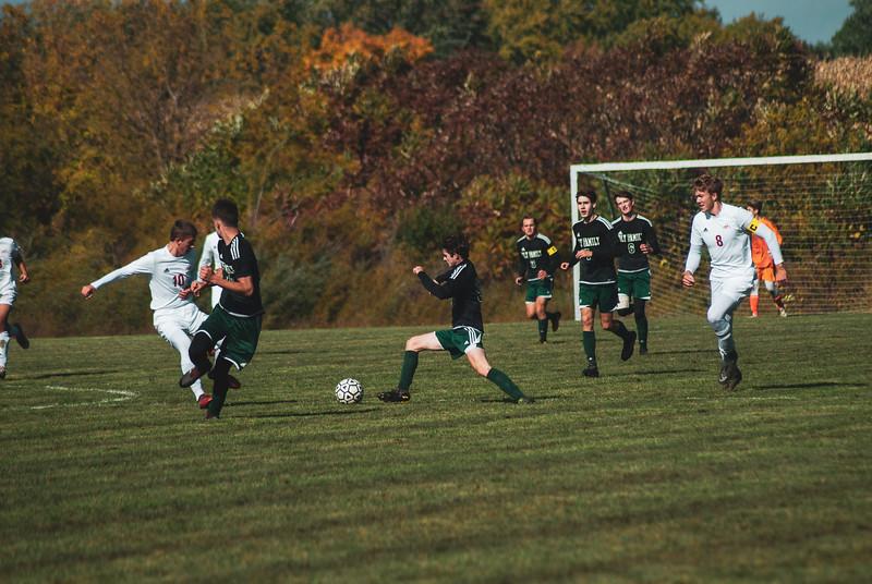 Holy Family Varsity Soccer vs. Mound Westonka Oct 13, 2018: Dan Parker '20 (9)