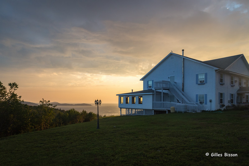 Sunrise at Castle Rock Inn, Ingonish Ferry, Cape Breton, Nova Scotia, Sept 3 2015, 1/80 F 11, ISO 800