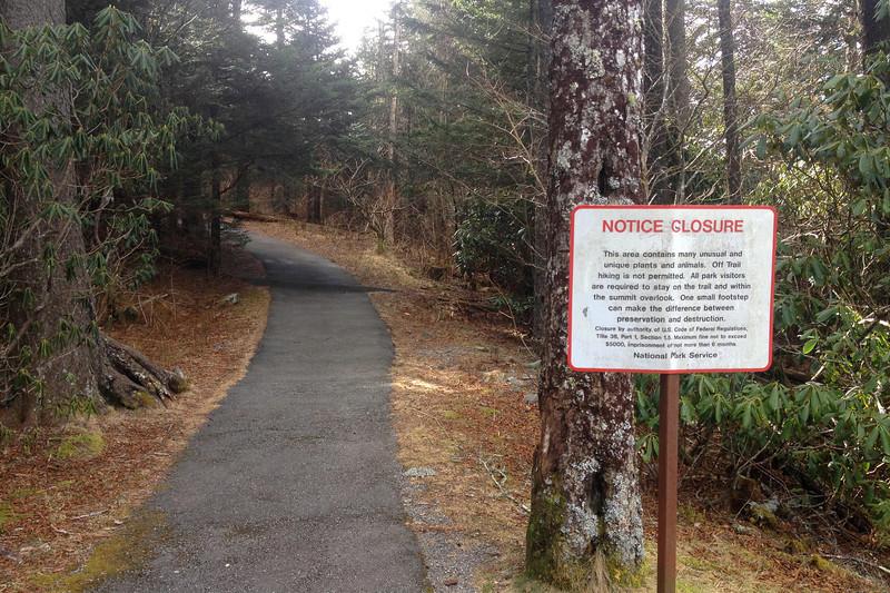 Devil's Courthouse Trail -- 5,500'