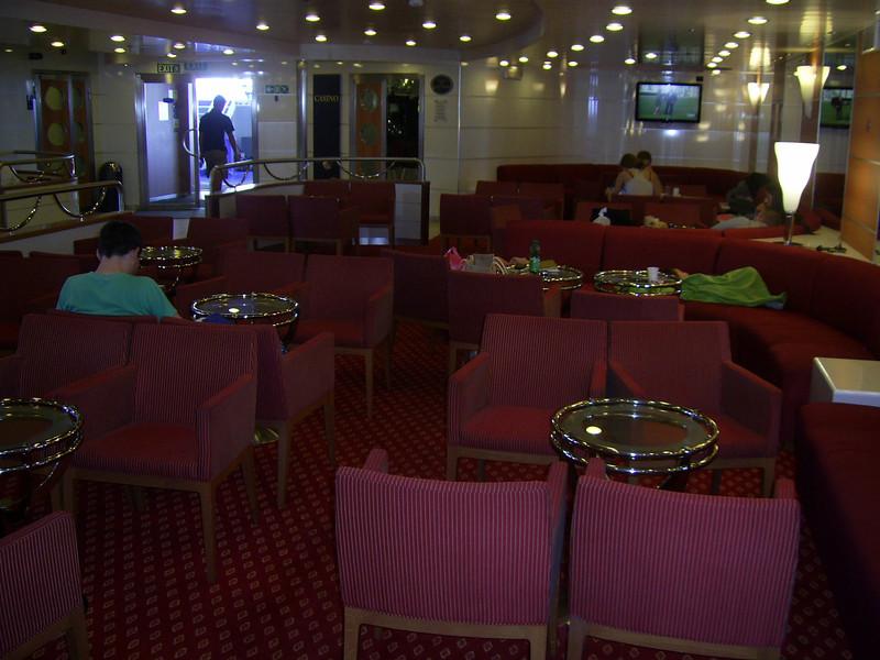 2012 - On board SUPERFAST II : reception lounge.