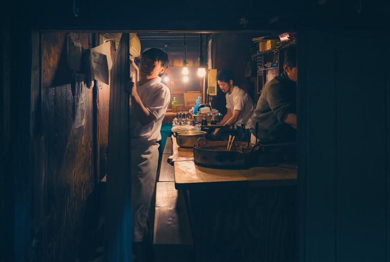 Kyoto closing up shop at night...