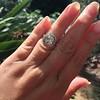 2.85ct Antique Cushion Cut Diamond Halo Ring 18