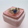 1.75ctw Cab Sapphire and Old European Cut Diamond 3-stone Ring 15