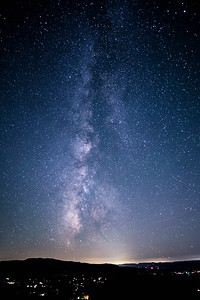 the milky way over the shenandoah