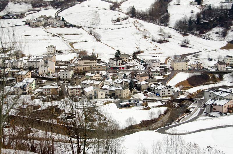 Town of Poschiavo, Switzerland