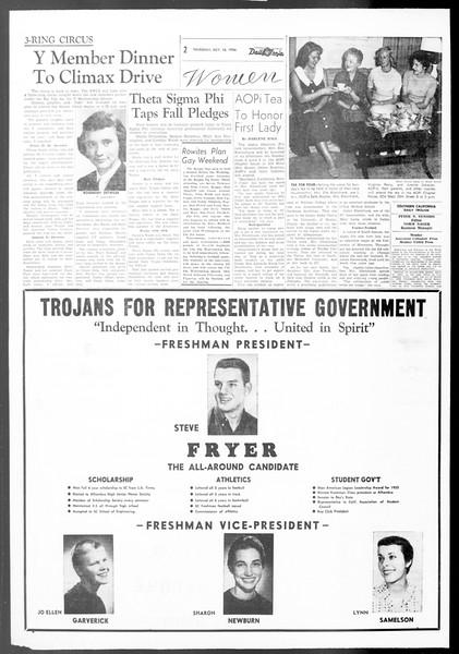 Daily Trojan, Vol. 48, No. 20, October 18, 1956