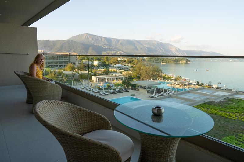 Balcony at the Ikos Dassia, Corfu