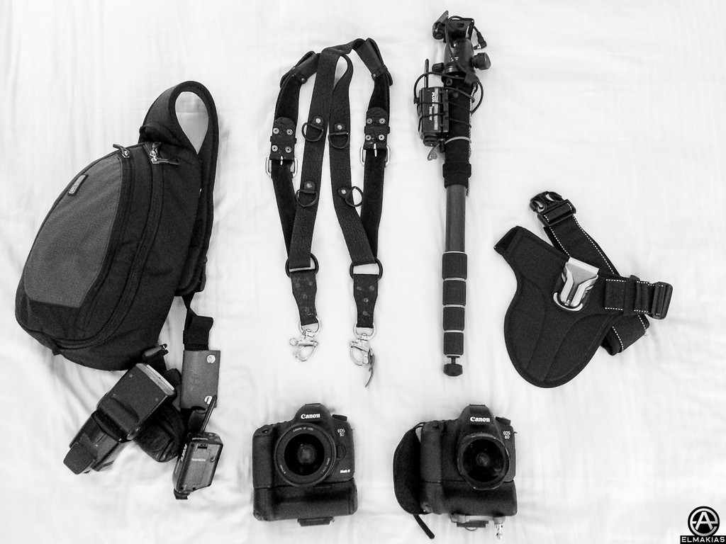 Adam Elmakias Concert gear pack packed