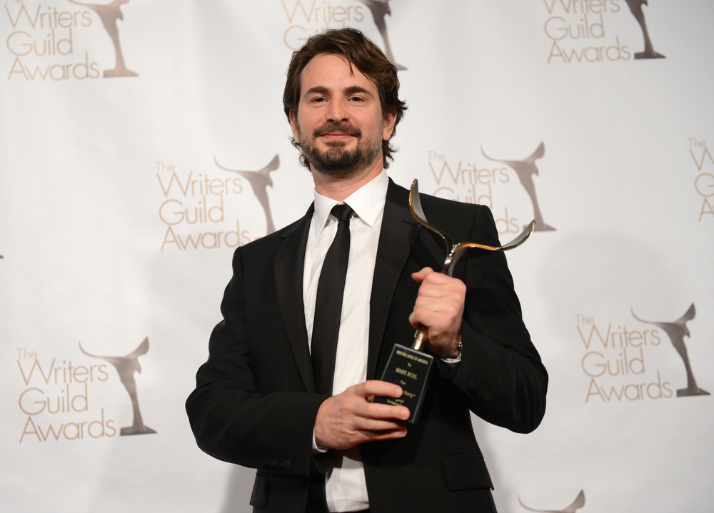 Description of . Writer Mark Boal, winner of the Writers Guild Award for Best Original Screenplay poses in the press room during the 2013 WGAw Writers Guild Awards at JW Marriott Los Angeles at L.A. LIVE on February 17, 2013 in Los Angeles, California.  (Photo by Jason Kempin/Getty Images for WGAw)