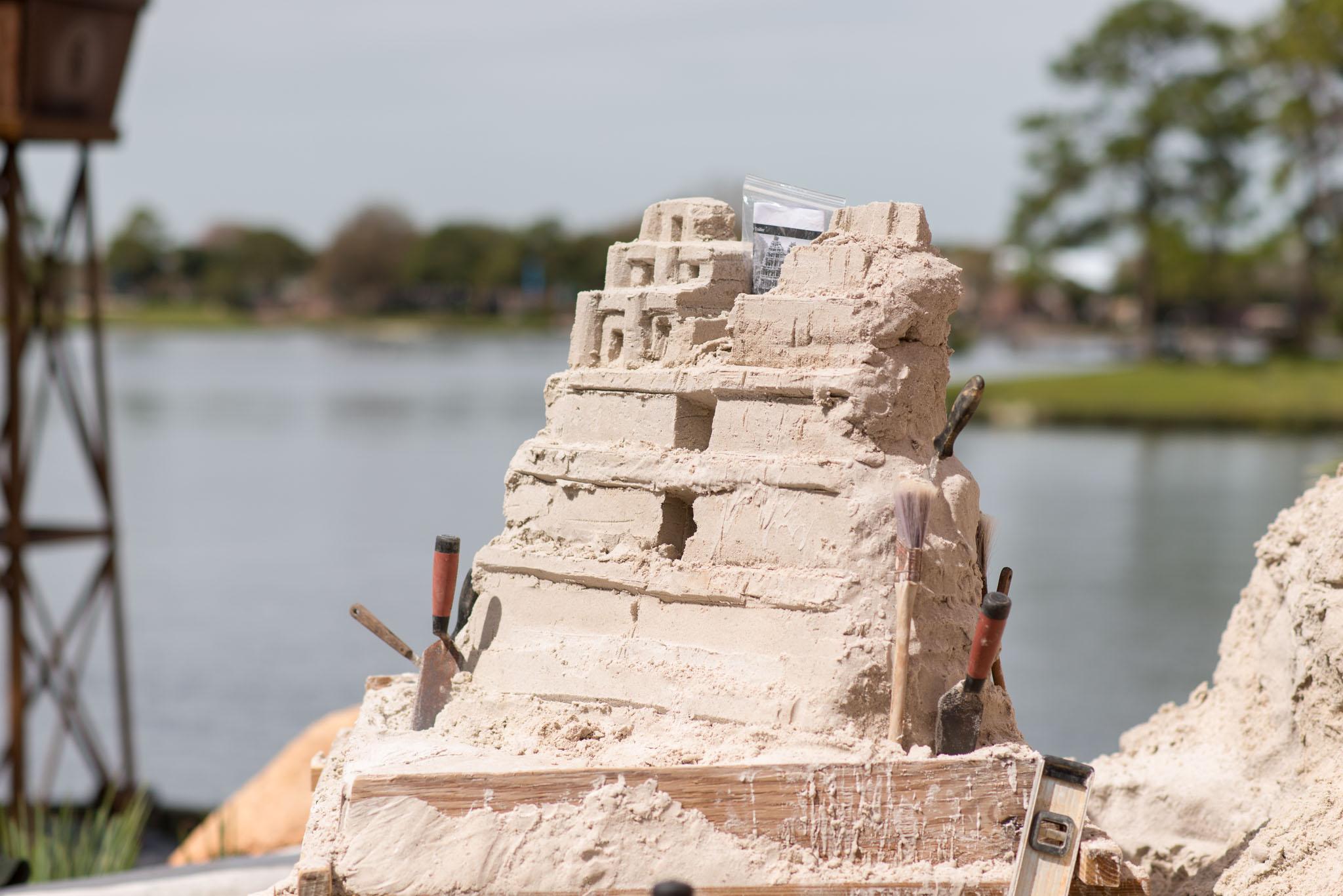 Sand Sculpture Pyramid - Epcot Flower & Garden Festival 2016
