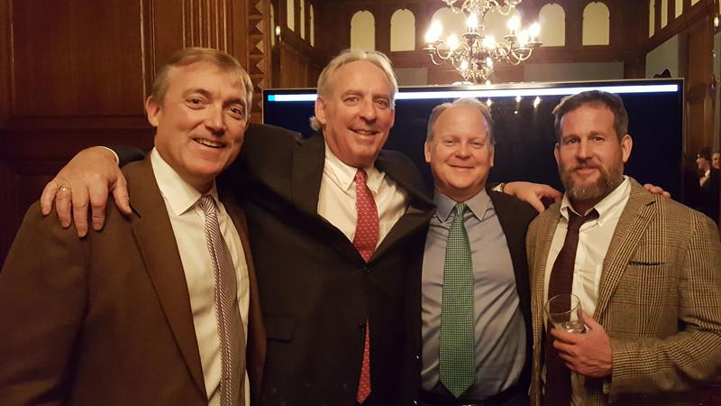 Ben Travers '88, Kevin Driscoll '72, P'08, James Boyle '85, and Kurt Detweiler '90