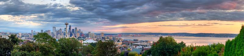 Seattle Sunset HDR Panorama