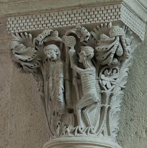 Saulieu Abbey of Saint-Androche Capital, The Hanging of Judas Iscariot