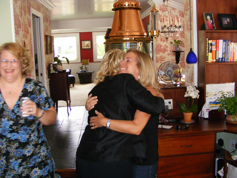 Long lost classmates, Lisa Beckley and Audrey Phillips Dunn, meet after many years