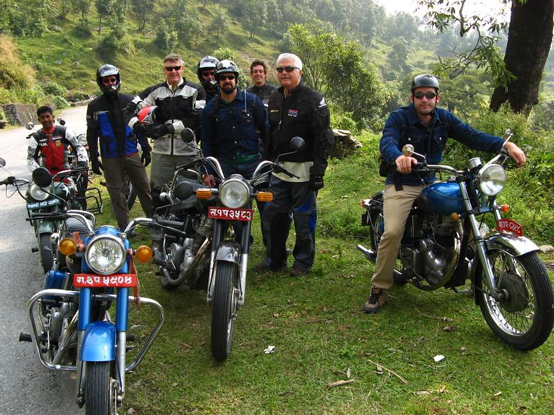 Royal Enfields in western Nepal