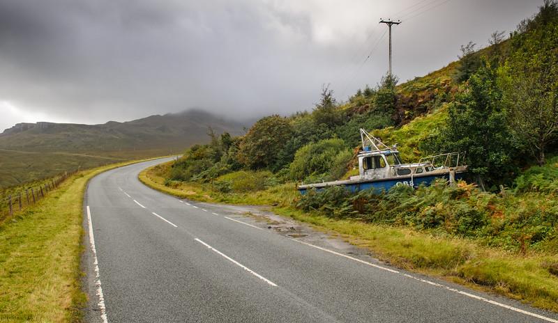 Abandoned boat on the Isle of Skye