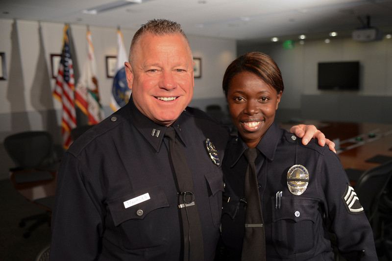 . LAPD Captain Phil Tingirides and Sergeant Emada Tingirides  who were targeted by Dorner.  Photo by David Crane/Staff Photographer