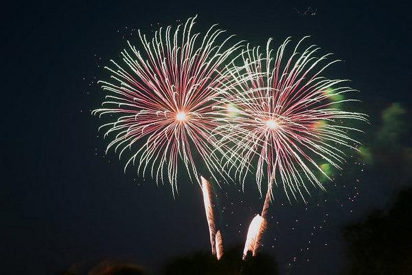 Fireworks in Williamsburg