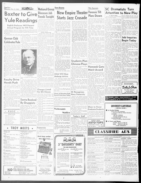 Daily Trojan, Vol. 40, No. 61, December 09, 1948