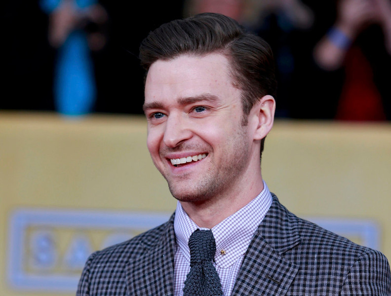 . Singer Justin Timberlake arrives at the 19th annual Screen Actors Guild Awards in Los Angeles, California January 27, 2013.  REUTERS/Adrees Latif (UNITED STATES  - Tags: ENTERTAINMENT)  (SAGAWARDS-ARRIVALS)