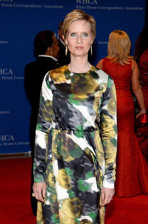 . Cynthia Nixon attends the 100th Annual White House Correspondents\' Association Dinner at the Washington Hilton on May 3, 2014 in Washington, DC.  (Photo by Dimitrios Kambouris/Getty Images)