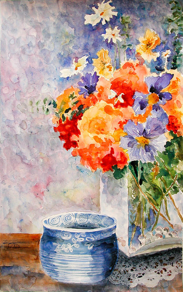 FLOWER WITH BOWL