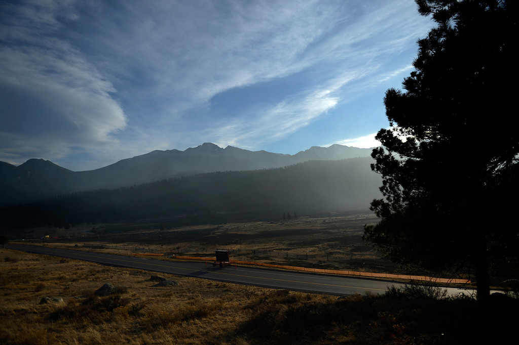. This open area in where the Fern Lake fire rushed 3 miles in 35 minutes at Historic Moraine Park in the  Rocky Mountain National Park, in Colorado Monday, December 3,  2012.    Joe Amon, The Denver Post