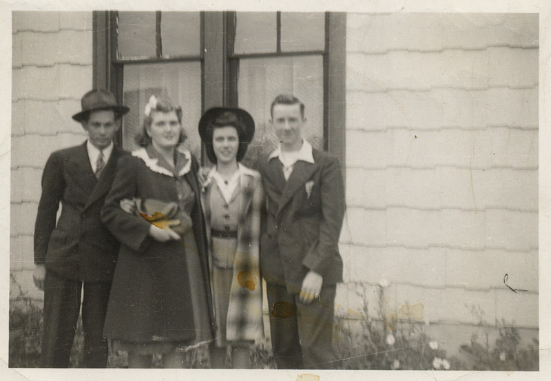 Dick and Charlotte Hankee, Doris and Cecil.  1947