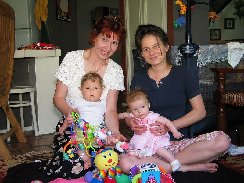 7/24 - Heni, Maya (6 months old) , Adel, Lili (4.5 months old)