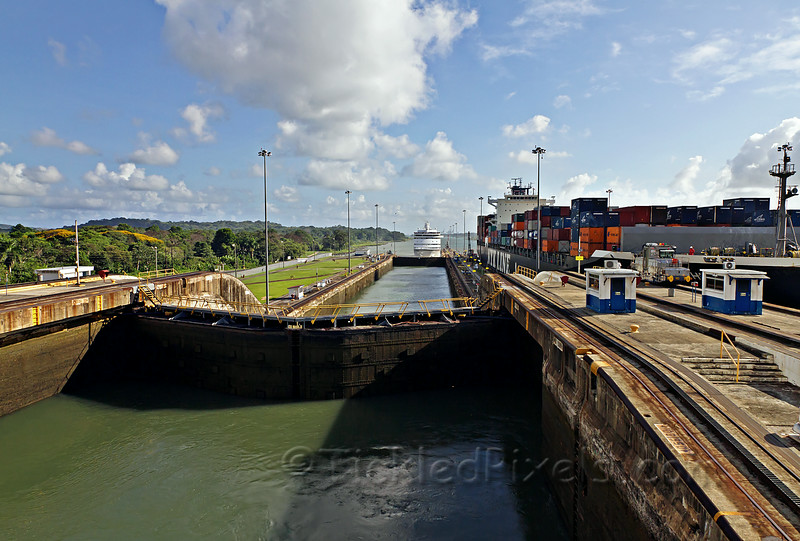 Navigator Approaches Gatun Locks