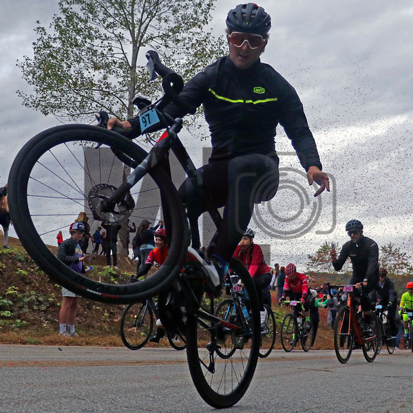 Spencer Rathkamp rides at the Gran Fondo Hincapie Greenville in Travelers Rest, S.C., on October 19, 2019