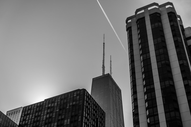 John Hancock with a line from the sky