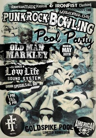 Punk Rock Bowling 2011 Pool Party - Golden Spike - Las Vegas, NV - May 30, 2011