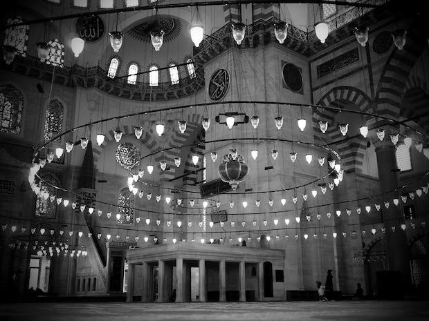 Sulemaniye Mosque, Istanbul, shot through a pinhole