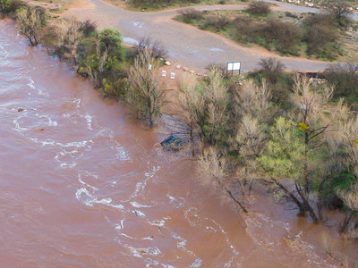 Clarkdale Flood 3/13/20 - about 12,000 CFS