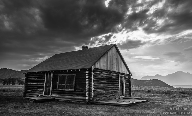 Alone on Prairie - Black & White Photography