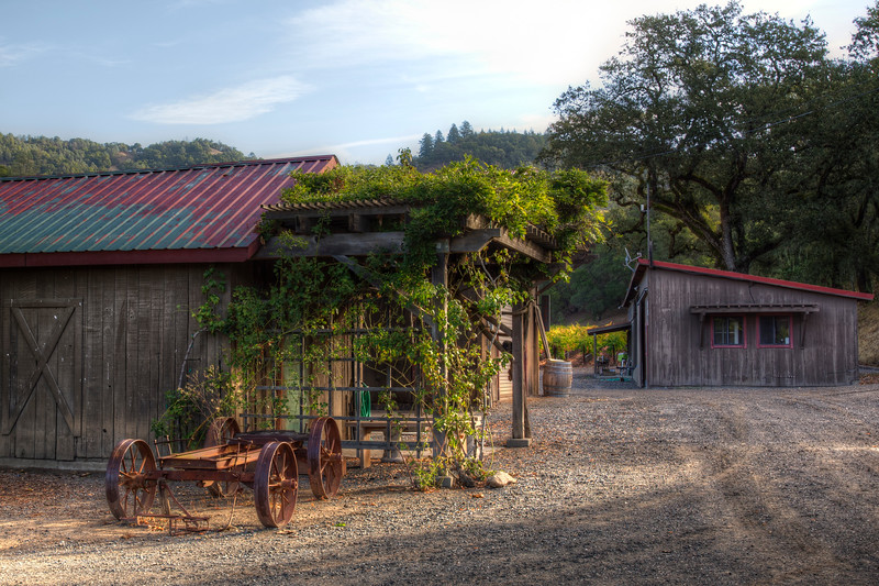 Napa Barn and Vineyard Sunrise - 2048px-.jpg