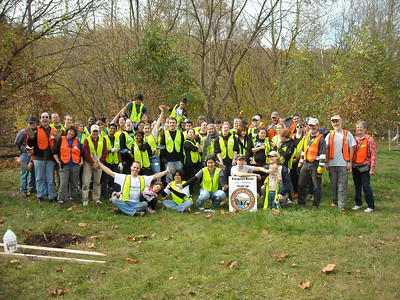 10.27.12 Tree Planting in Patapsco State Park in Avalon Area Near Lost Lake (Patapsco River & Soapstone Branch watershed area)